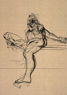 Francis Bacon, Life Drawing, 1970, charcoal