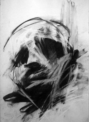 Head Study, 1960, charcoal