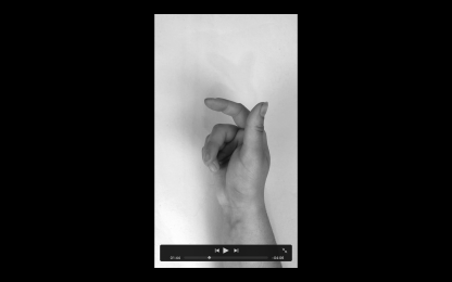 Figure 2: Nina Williams, Hand Movement, 2020, (Noir, Silent) Video (unfinished)