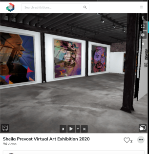 Sheila Prevost. Virtual Exhibition, 2020