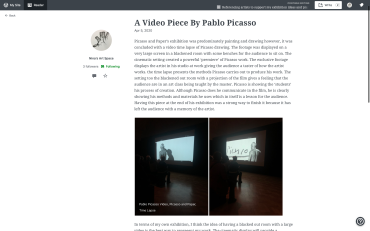 Picasso and Paper Exhibition, Pablo Picasso, Royal Academy of Arts, 2020, Film Art