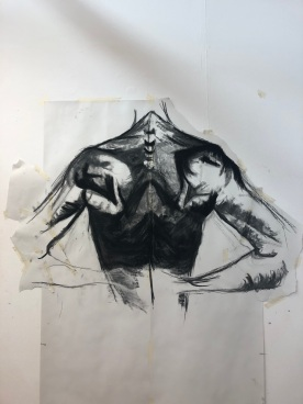 Figurative sketch using charcoal